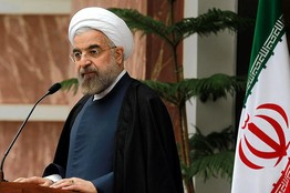 Iranian President Hasan Rouhani at a Nov. 24 news conference in Tehran. EPA