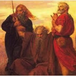 Moses praying over the battlefield