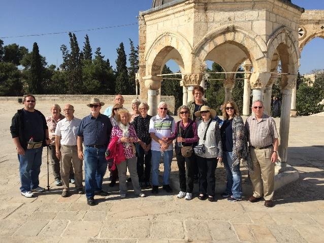 PRMI Jerusalem Prayer Endeavor Team at a strategic location in Jerusalem cooperating with the Holy Spirit
