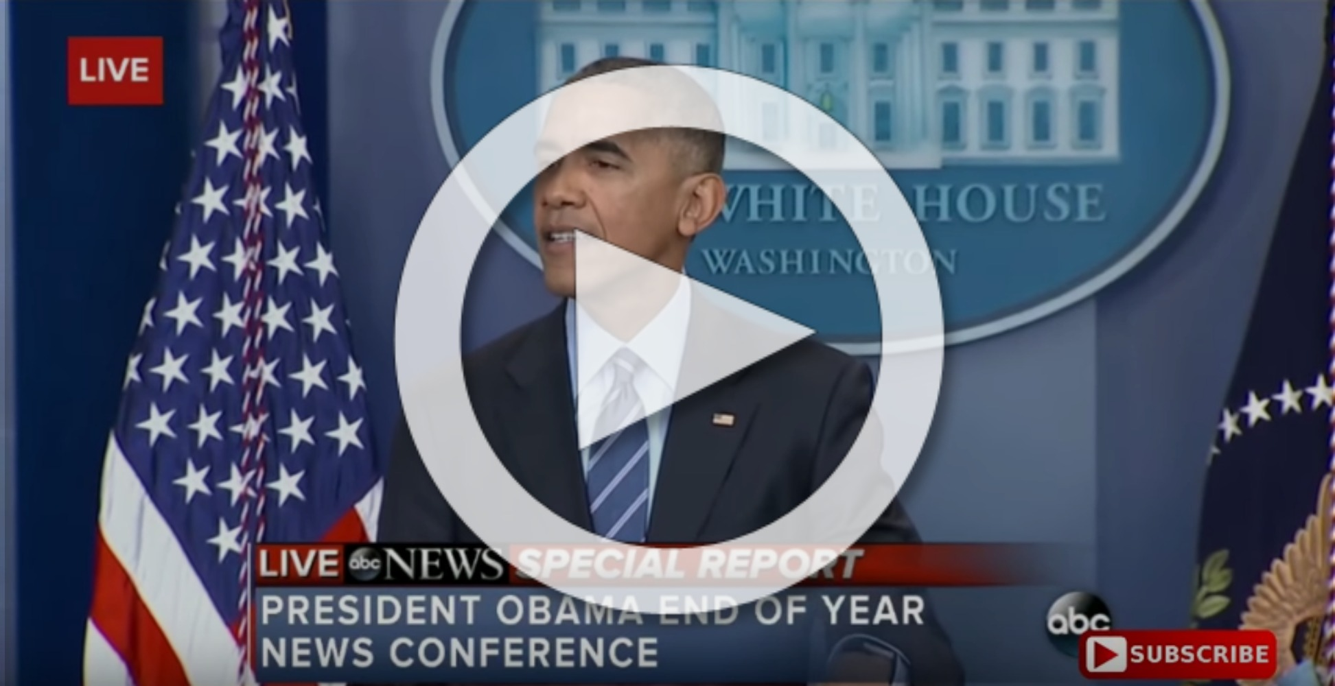 President Obama speech December 16 Russia, Trump, election tampering