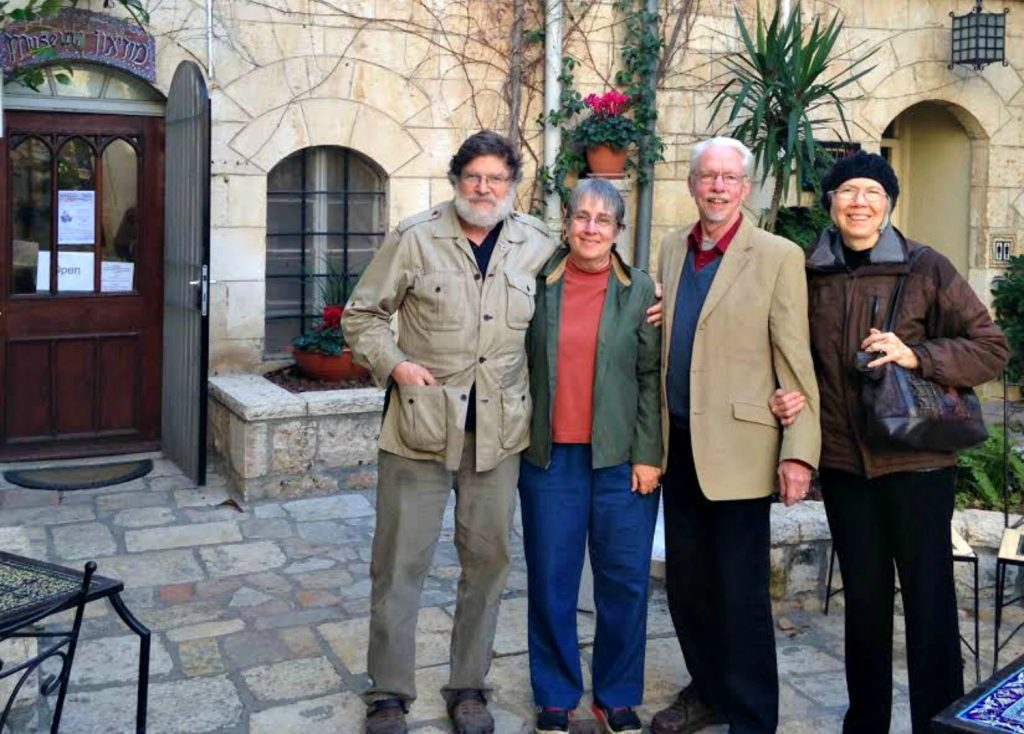 Brad and Laura Long with Doug and Carla McMurry in Jerusalem