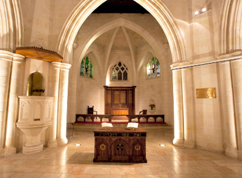 The sanctuary of Christ Church in Jerusalem
