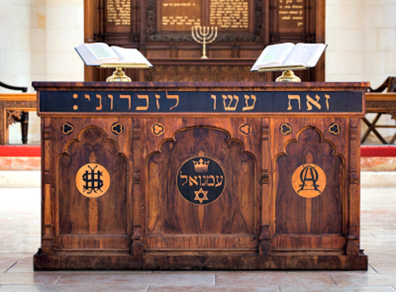 The altar inside Christ Church, Jerusalem
