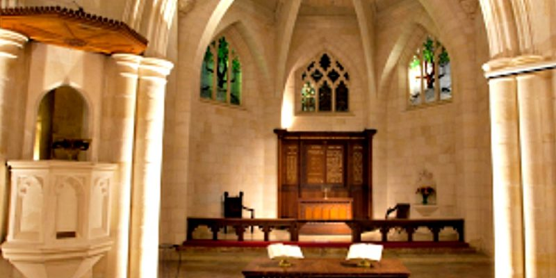 The sanctuary of Christ Church, Jerusalem