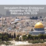 Announcing the next Jerusalem Prayer Endeavours 2017/2018