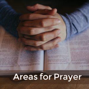 Three Areas for Prayer