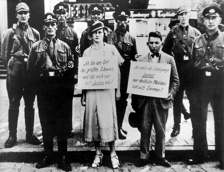 The Nuremberg laws sought to ban Jewish - German interaction